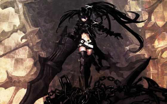 аниме, обои, rock, shooter, black, anime, красивых