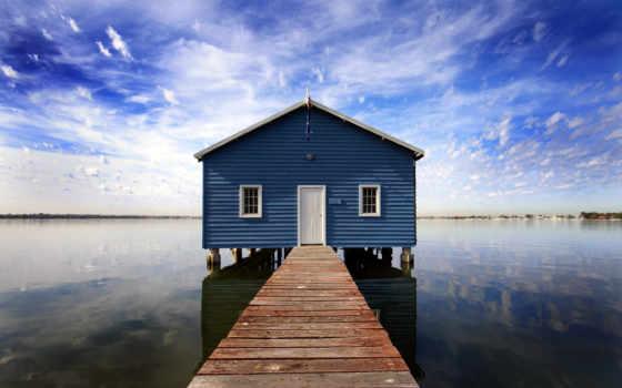 waters, dock, дом, new, äâµïë, resolution, download, ipad, retina, moody, desktop, вода, озера, moradia, небо,
