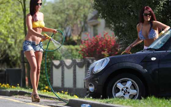 devushki, авто, автомобили, water, моют, машины,