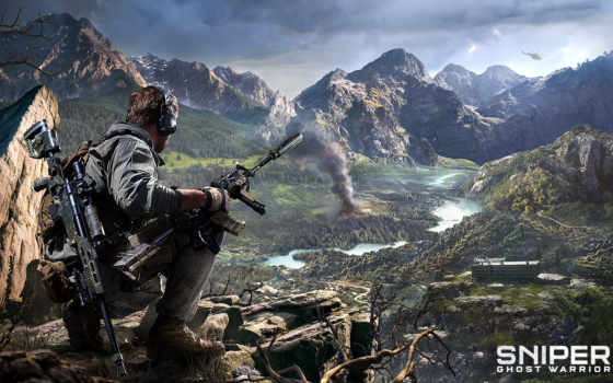 снайпер, ghost, воин, trailer, игры,
