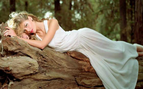 платье, длинном, blonde