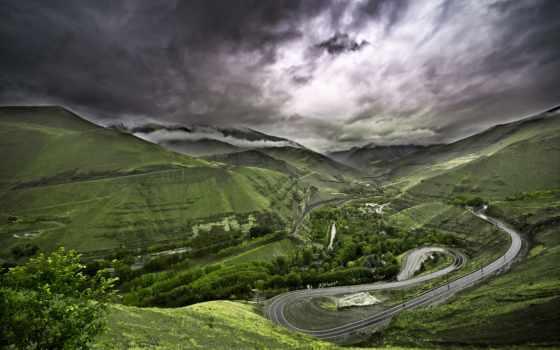 chalus, iran, дорога, долина, fantastic, серпантин, гора, rod,