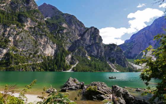 природа, озеро, italian, горы, landscape,