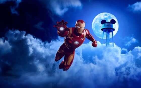 мужчина, iron, ноутбук, супергерой, устройство