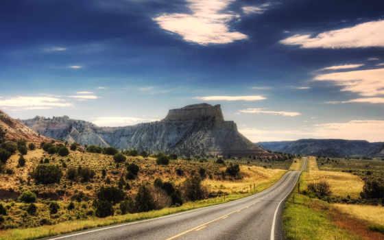 дорога, красивые, горы