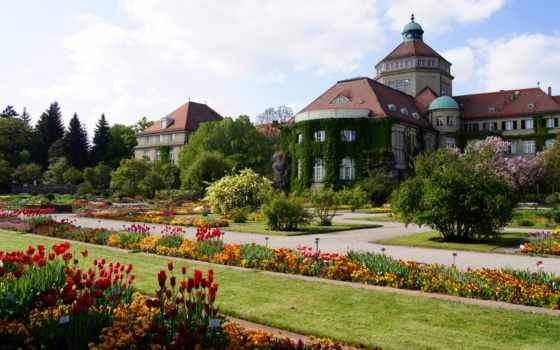 botanical, munich, германия, сады,