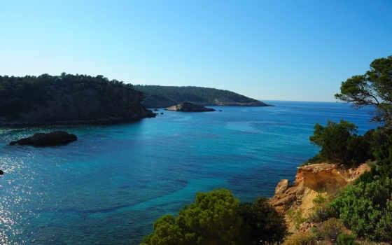 холмы, xarraca, cala, seascape, islands, красивое, море,