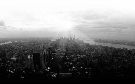 black, white, город, new, york, free, images, photos, skyline, buildings,
