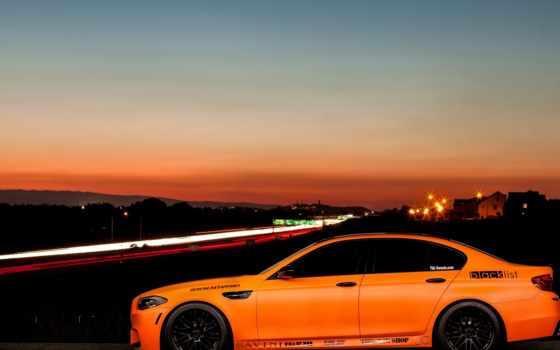 bmw, оранжевый, matte, matt, изображение, диски, cars, side, profile,