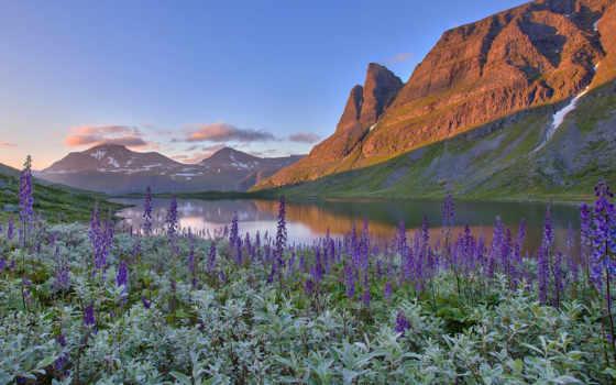 природа, norwegian, норвегии, горы, вышивки, норвегия, озеро, landscape,