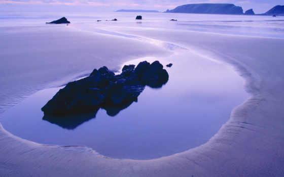 вода, вечер, сиреневый, тишина, скалы, небо, цвет, спокойствие, облака, закат, море, камни, beach, hd, facebook, wallpapers, wallpaper, and,