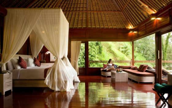 kupu, barong, villas, отель, индонезия, спа, дерево,