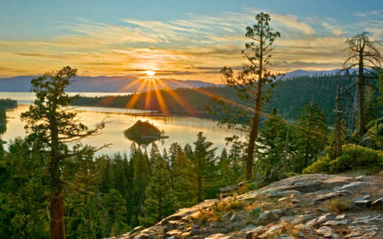 рассвет, со, озеро