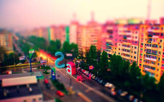 colorful, дома, город, улица, люди, городов, яркий, квартиры,