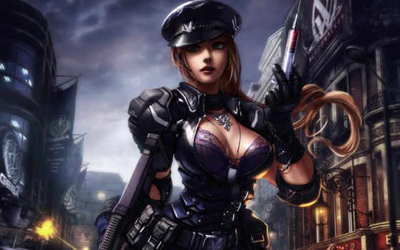девушка, шприц, оружие, огнестрельное, belt, anime,