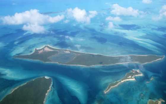 розовый, bahamas, sands, пляж, aerial, взгляд, free,