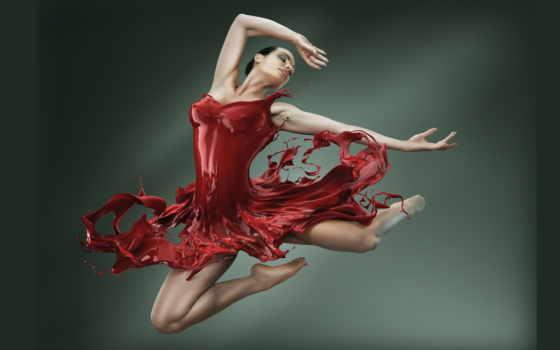балерина, балет, pinterest, прыжке, об, платье, красной, dance, you,
