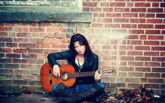 девушка, гитара, женщина, stokovyi