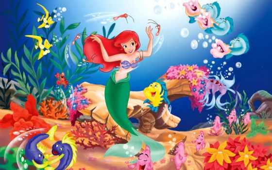 disney, мультики, русалка, красавица, monster,