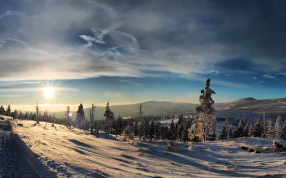 paesaggi, neve, desktop