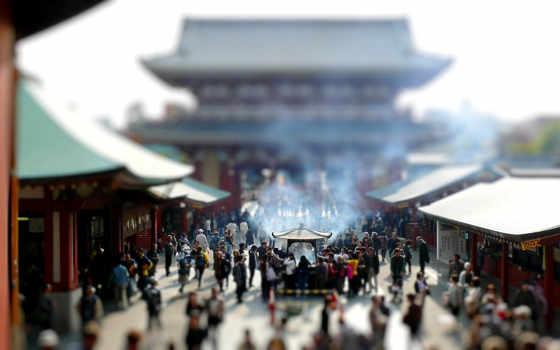 храм, architecture, shift, asian, tilt, фон, япония,