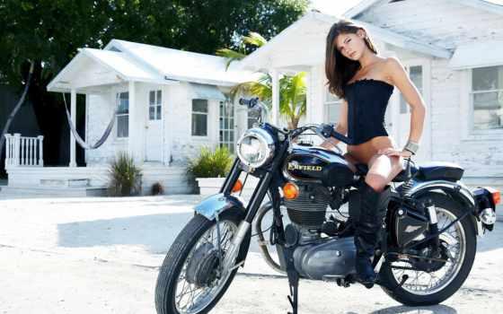 найти, девушка, красивые, нашем, портале, интересные, royal, enfield, bike, мотоциклы,