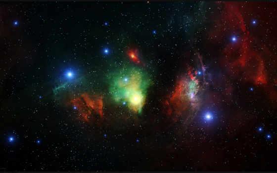 фон, nebula, бесконечность, космос, глаз, stars, ultra