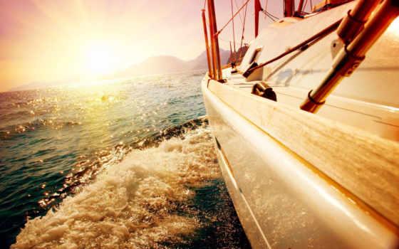 море, яхта, water