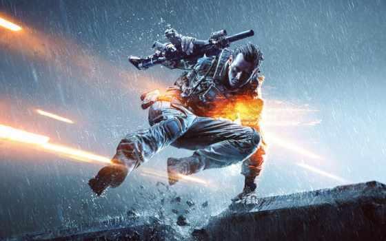 battlefield, fondos, pantalla, игры, game, солдат, оружие, дождь, техника,