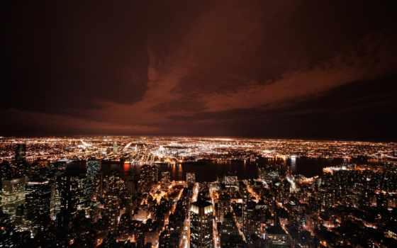 пейзажи -, городские, город, york, new, нью, мегаполисов, американский, взгляд, сша, that,