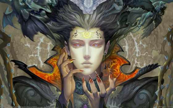 демоны, ангелы, когти, девушка, фантастика, символы, пирсинг, грн, демона, демон,