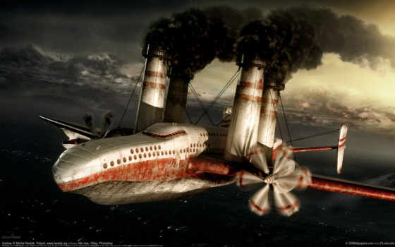 самолет, wallpaper, albumok, wallpapers, дым, image, hd, mp, steampunk, трубы, art, are, ogg, to, as, and, steam, background, amazing, is, plane, digital, this, темы, no, пару, descargar, fantasy, you