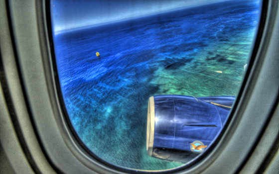 иллюминаторы, самолет