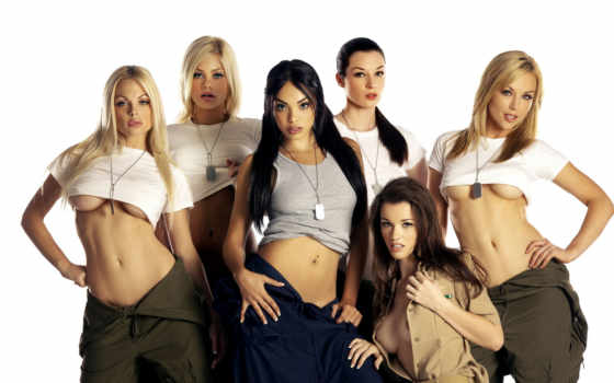 девушки, брюнетки, блондинки, футболка, спецодежда, jane, jesse, kayden, kross, sexy, girls, steele, riley, babe, картинка,