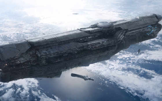 корабли, космические, башни Фон № 34971 разрешение 2206x1080