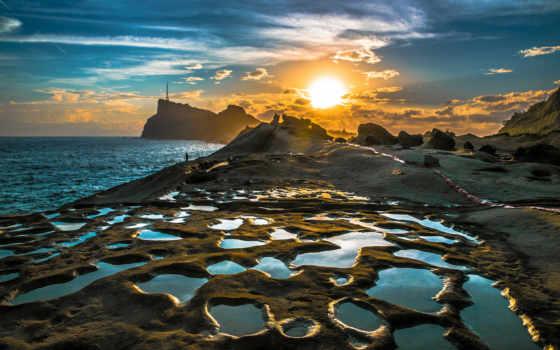 рассвет, побережье, share