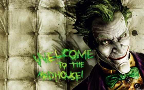 стена, психушка, joker, arkham, asylum, batman,