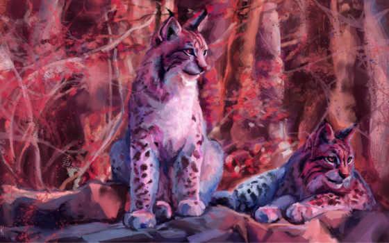 рысь, art, fantasy, хищник, artwork, ashiria,