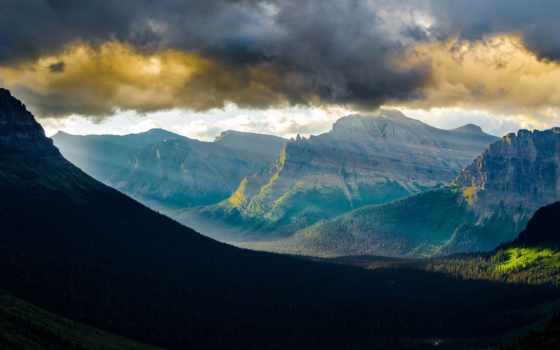 montana, park, national, glacier, красивые, state,