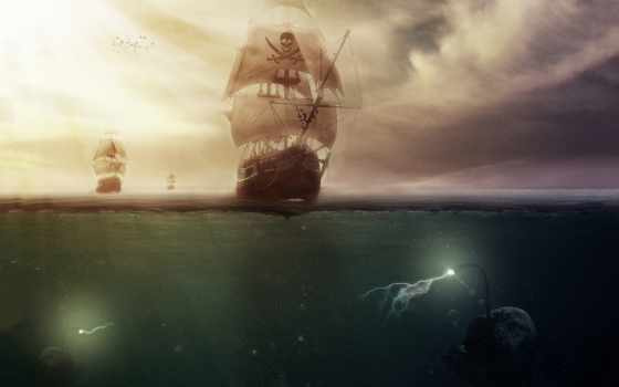 пиратский, море, морские, чудовища, monster, best,