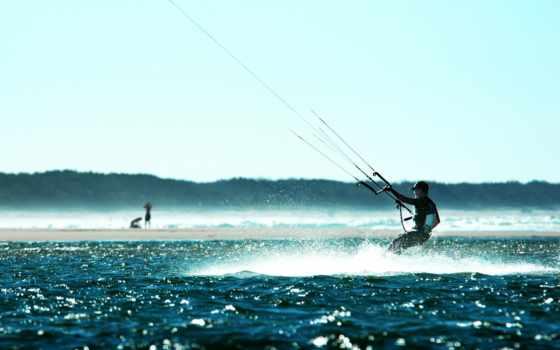 сёрфинг, kitesurfing, kite, water, море, спорт, multicolored, много, hotel