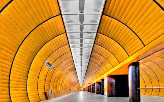 поезд, свет, метро, подземка,