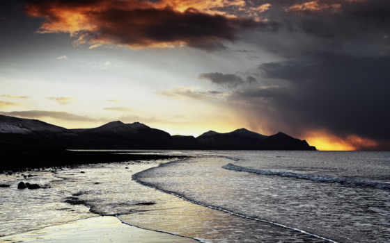 вечер, море Фон № 32130 разрешение 1920x1080