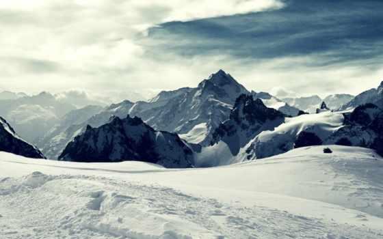 snow, winter, landscape