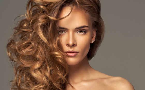 девушка, взгляд, волосы