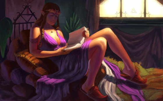 zelda, сказание, игры, воители, art, elfy, devushki, gf,