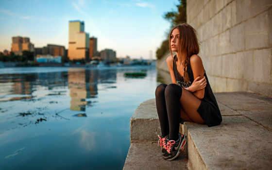 девушка, devushki, сидит, красивая, красивые, waters, pro, чернядьев, об, косичка, замерзла,