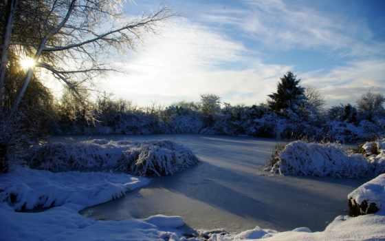 озеро, winter, иней, french, тег, есть, всех, которых, утро,