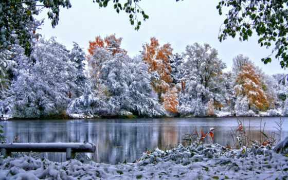 landscape, река, winter, природа, reki, снег, зимние, пейзажи -,