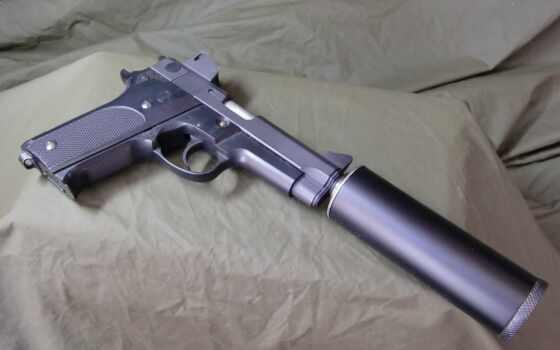 пистолет, оружие, firearm, глушитель, ручной, ствол, военный, качественные, fluff